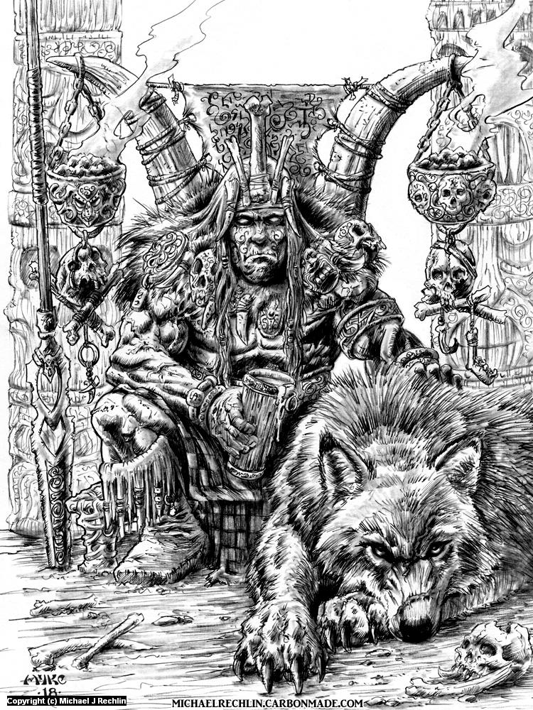 Syml and his War Wolf Anwar Artwork by Michael Rechlin