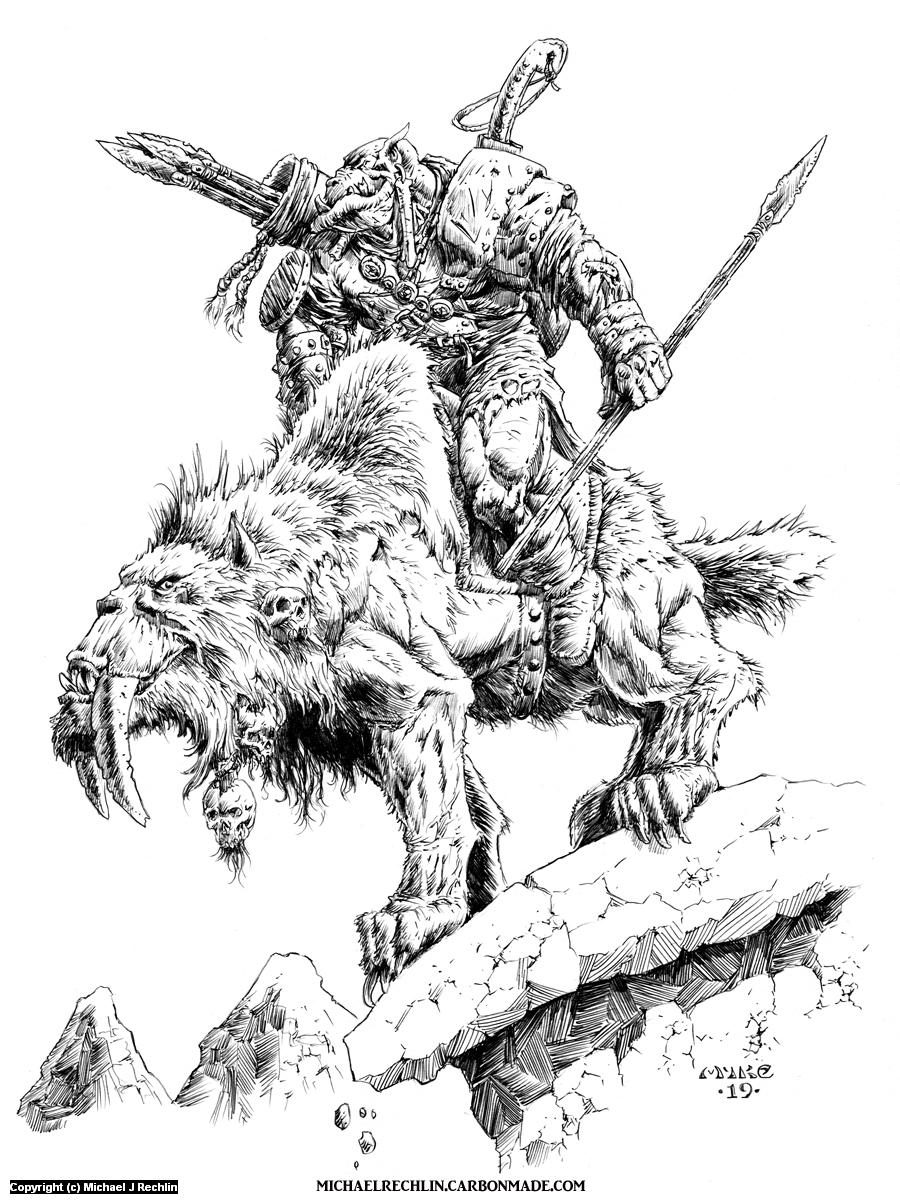 Orc Dagr Rider Artwork by Michael Rechlin