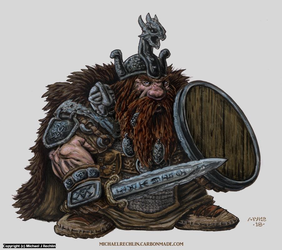 Gwaedfolk Dwarf Artwork by Michael Rechlin