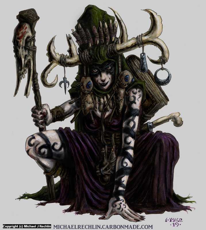Blackened Witch Artwork by Michael Rechlin