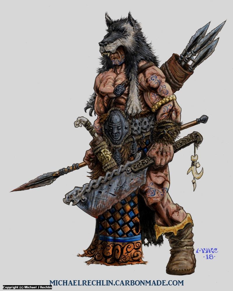 Skulten Warrior Artwork by Michael Rechlin