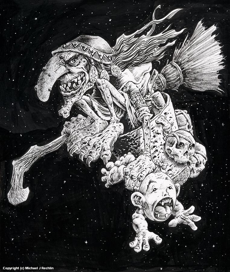 Baba Yaga Artwork by Michael Rechlin
