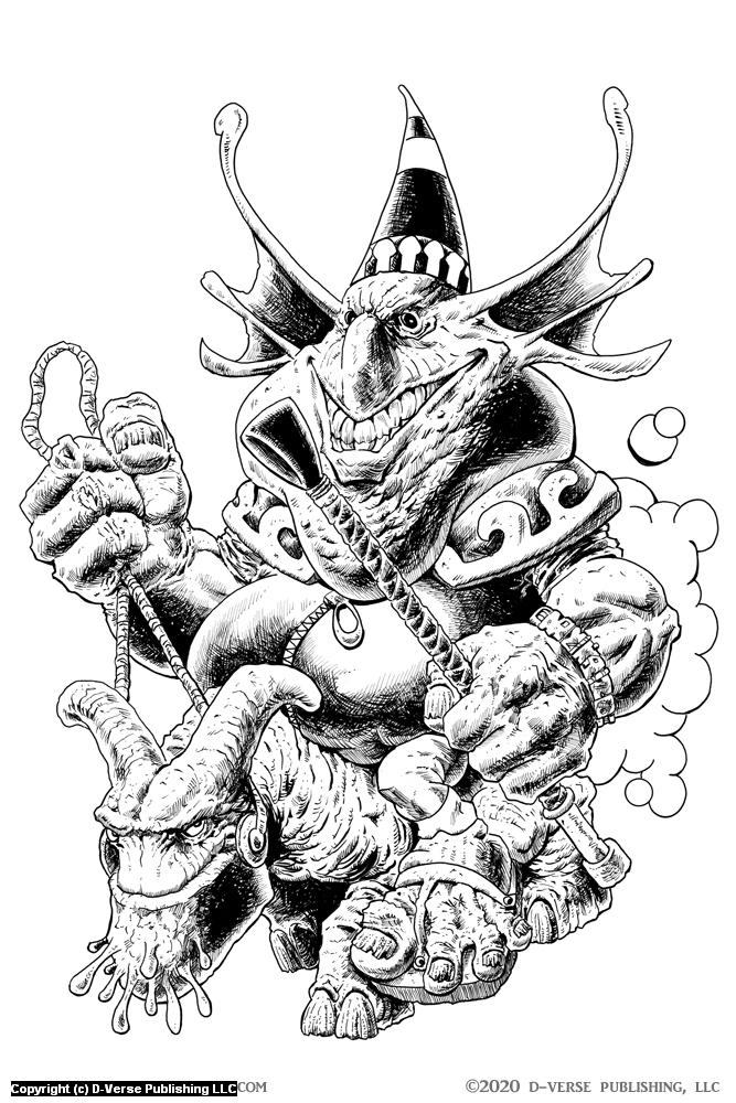 Lord Flatulateo Orifian Artwork by Michael Rechlin