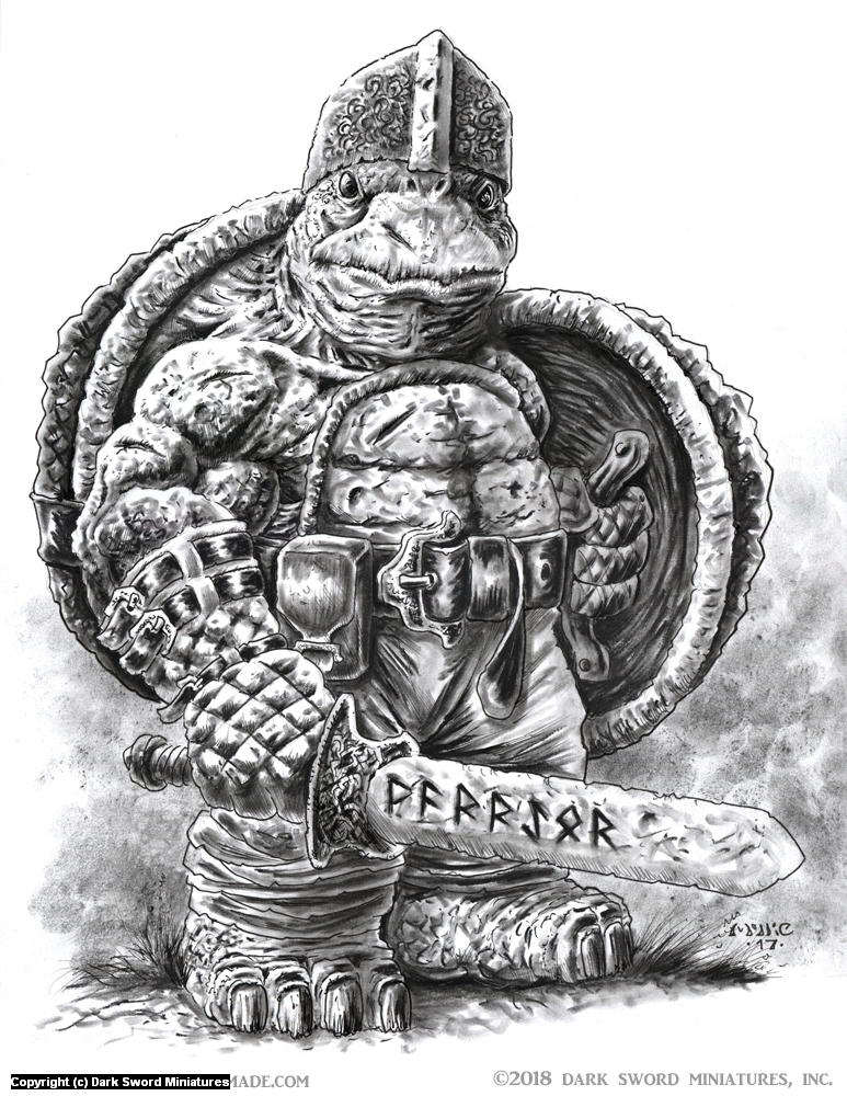 Tortoise Warrior Artwork by Michael Rechlin