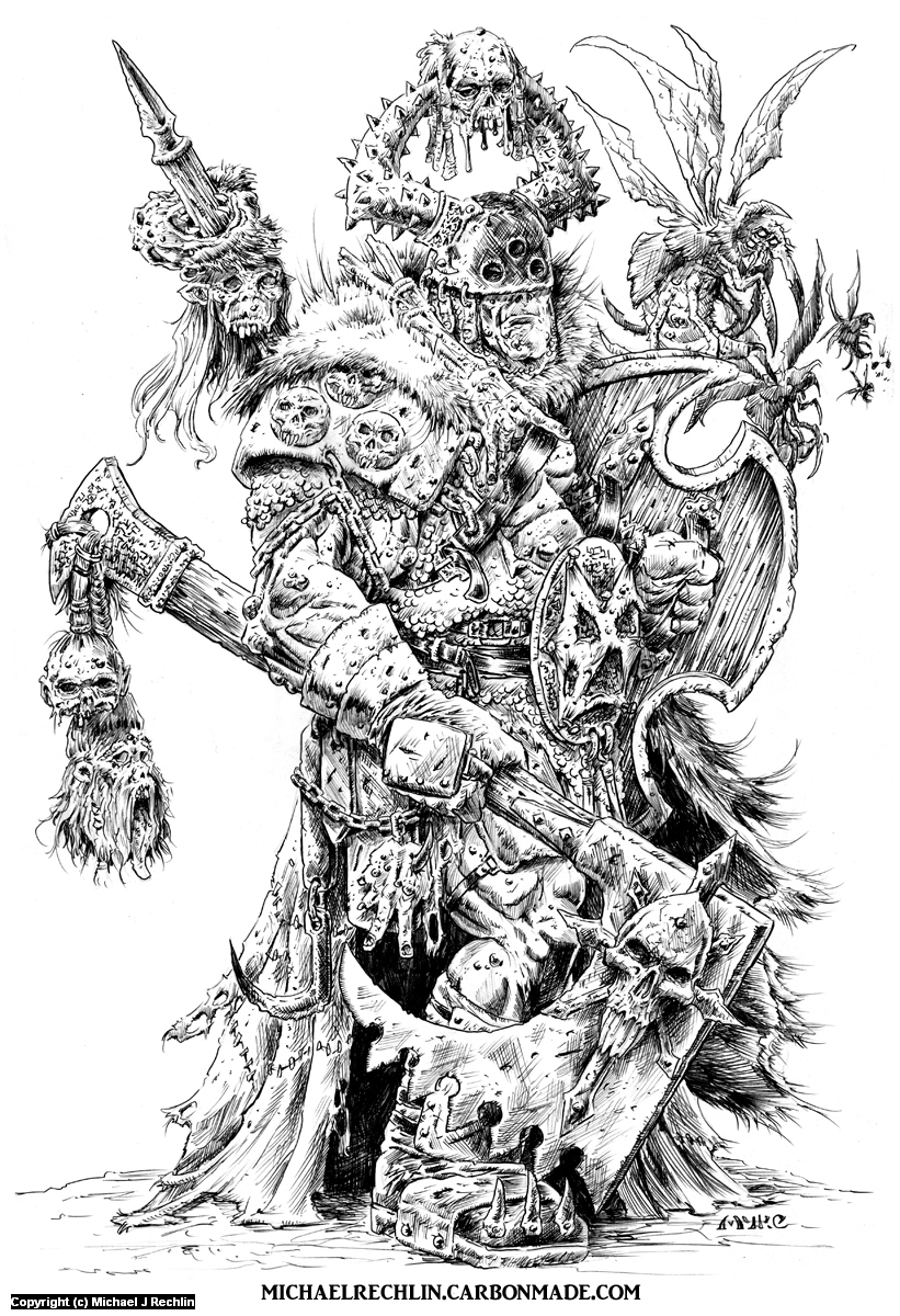 Nurgle Champion Artwork by Michael Rechlin