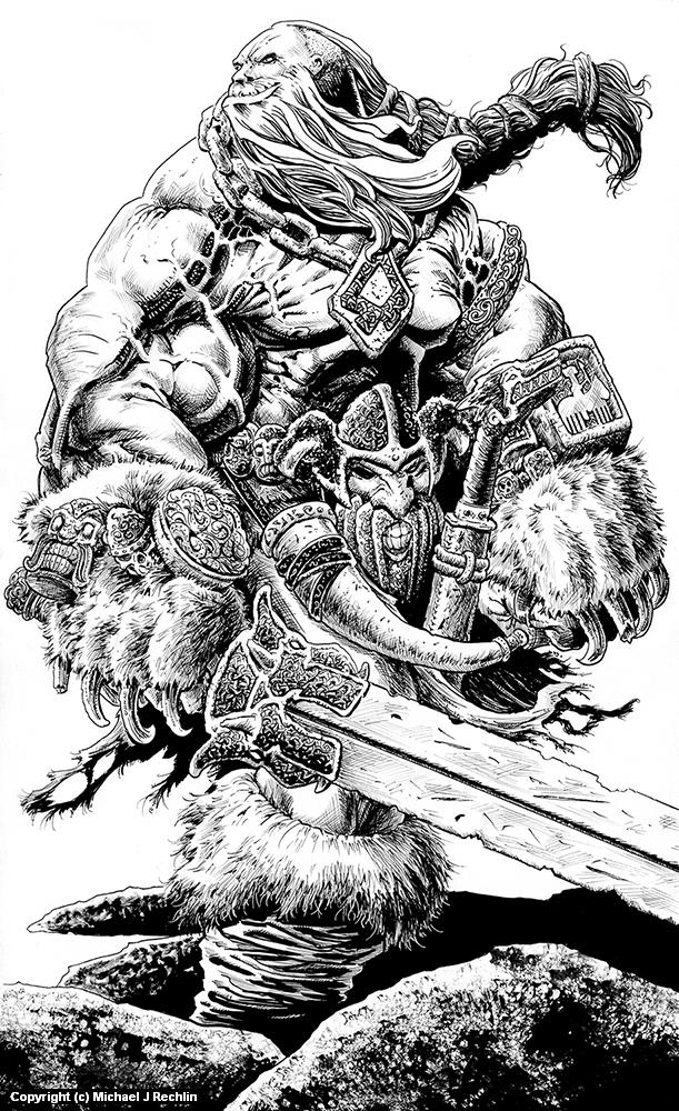 Bjarki Bearhands Artwork by Michael Rechlin