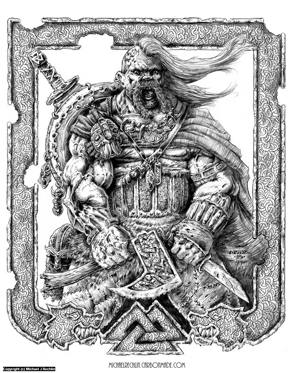 Viking Power Artwork by Michael Rechlin