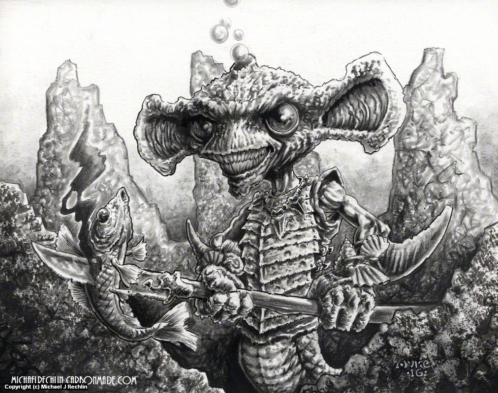 Merglin Artwork by Michael Rechlin