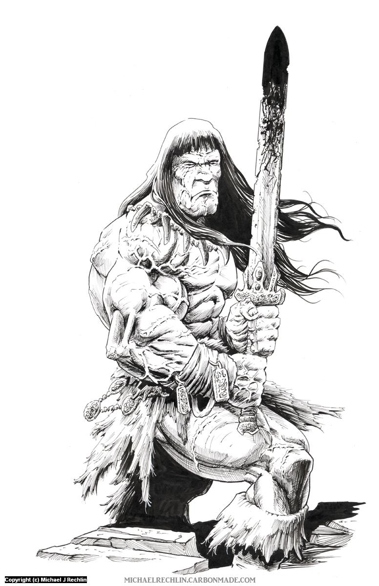 Conan the Cimmerian Artwork by Michael Rechlin