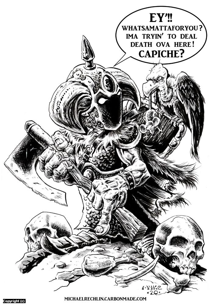 Aggravated Dealer O' Death... Artwork by Michael Rechlin