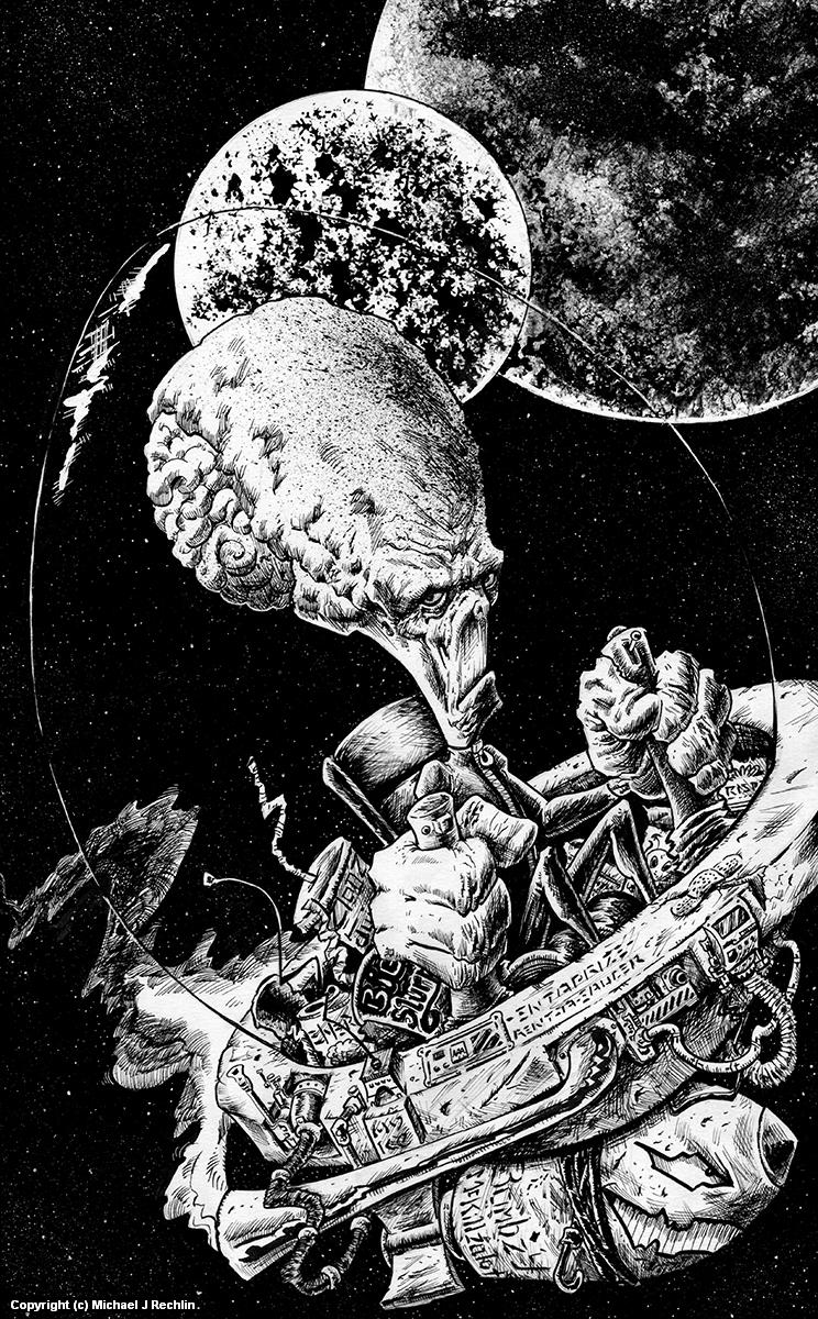 Earthlings MEH! Artwork by Michael Rechlin