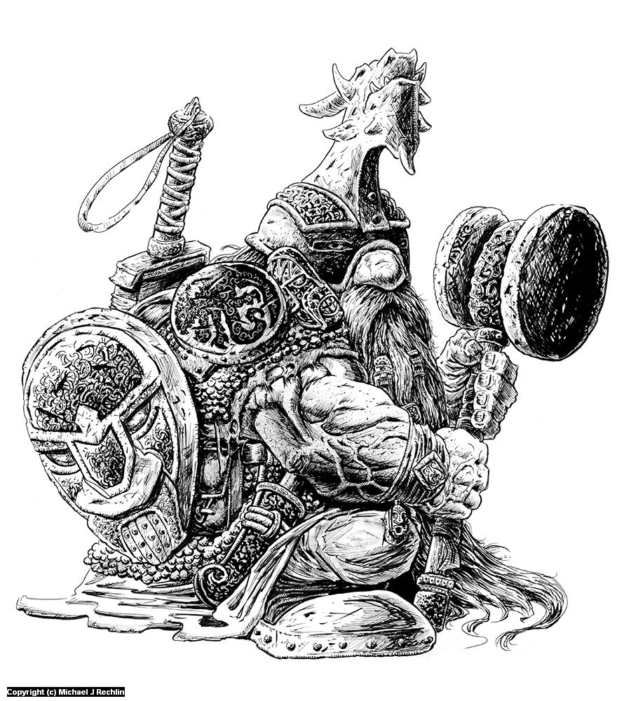 Kreggr Goblinsbane Artwork by Michael Rechlin