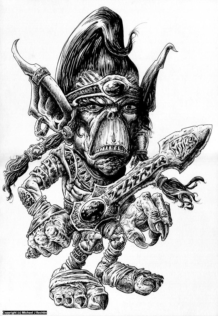 Gary the Githyanki Artwork by Michael Rechlin