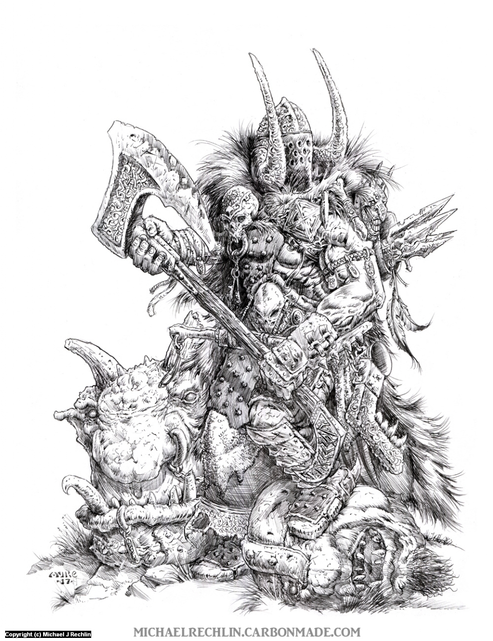 Kill Em' All Artwork by Michael Rechlin