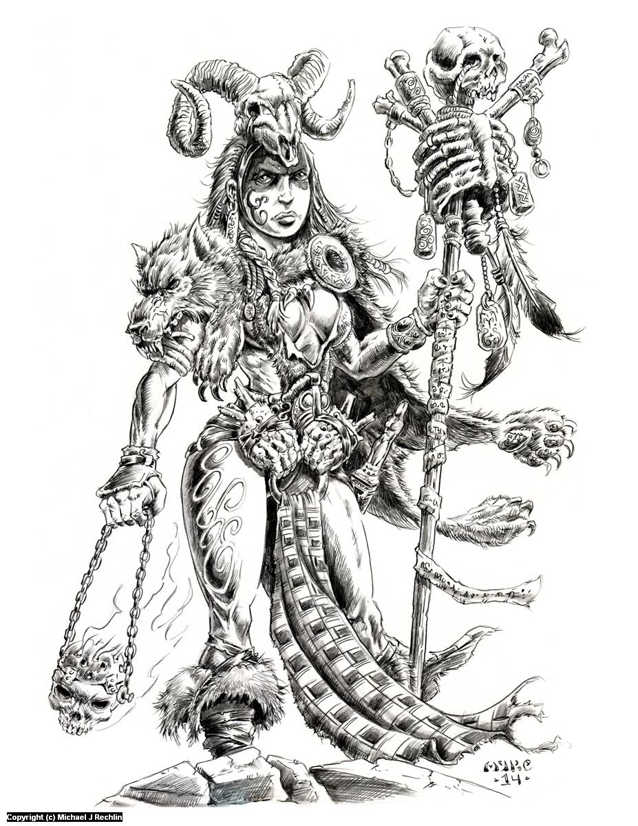 Sessair Druidess Artwork by Michael Rechlin