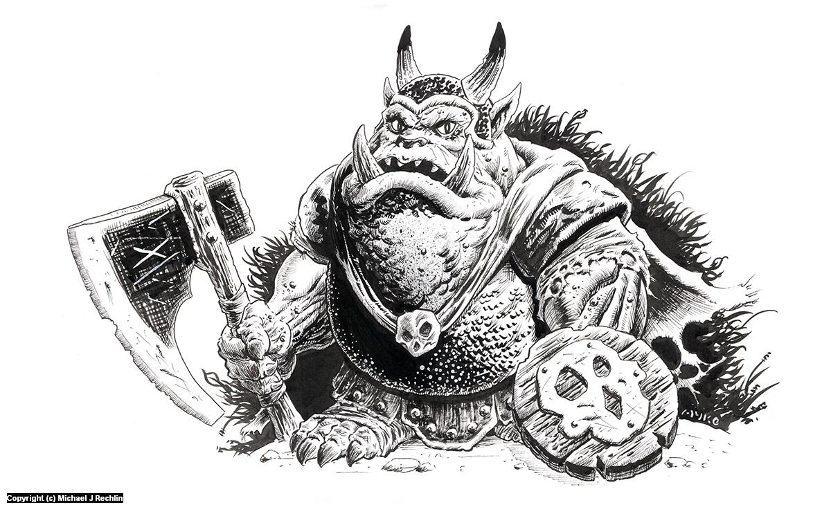 Rankin Bass Orc Artwork by Michael Rechlin