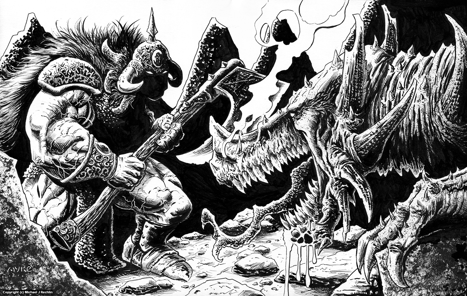 Duel with Death Artwork by Michael Rechlin