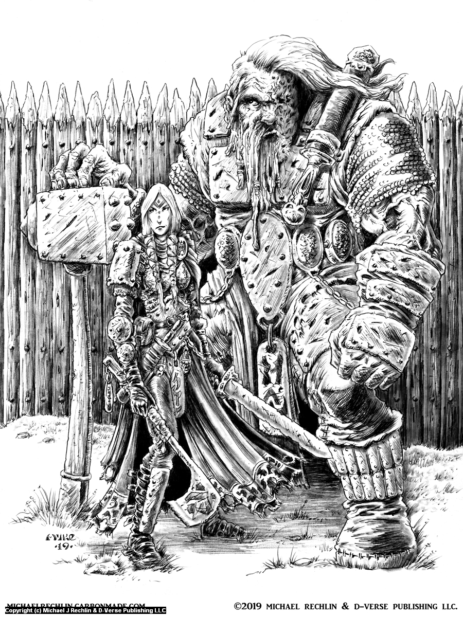 Caaren and Helka Artwork by Michael Rechlin