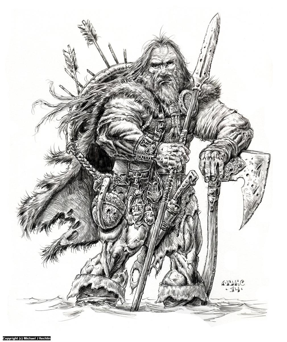 Viking Artwork by Michael Rechlin