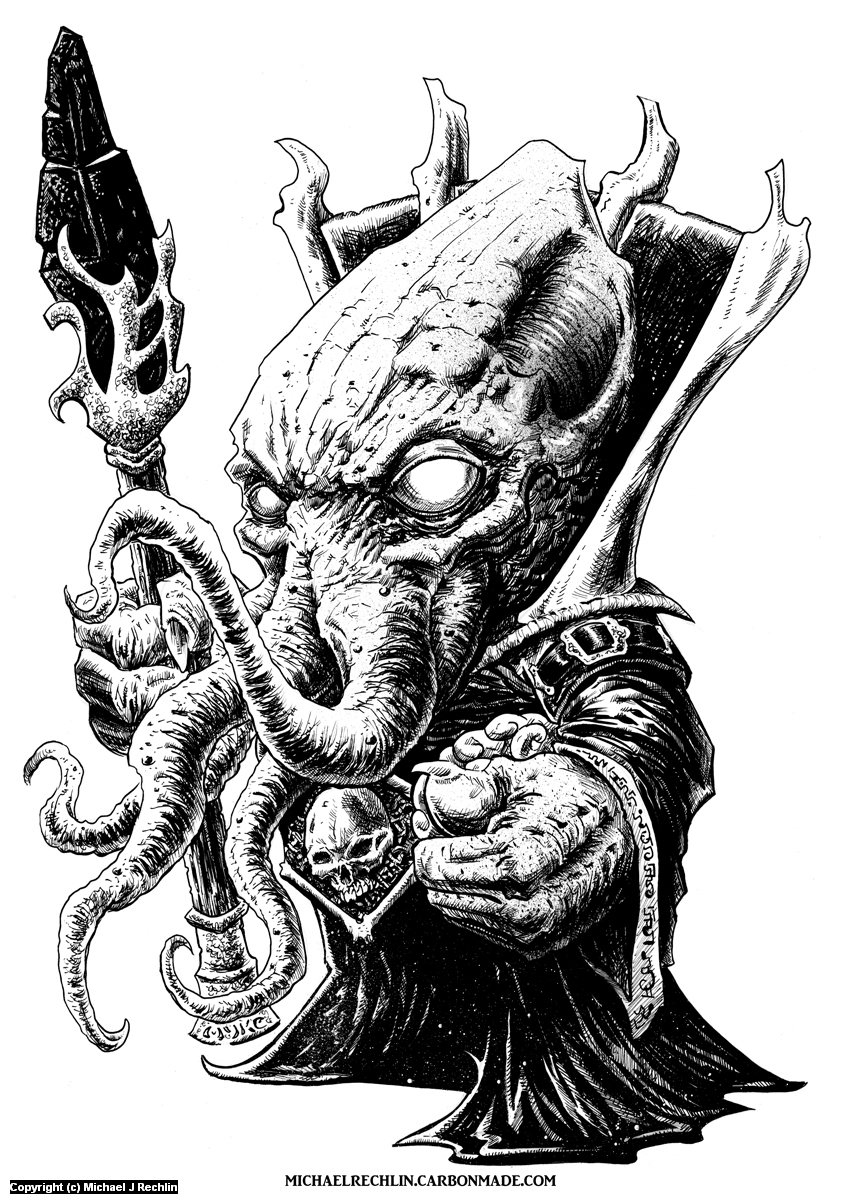 Marty the Mindflayer Artwork by Michael Rechlin