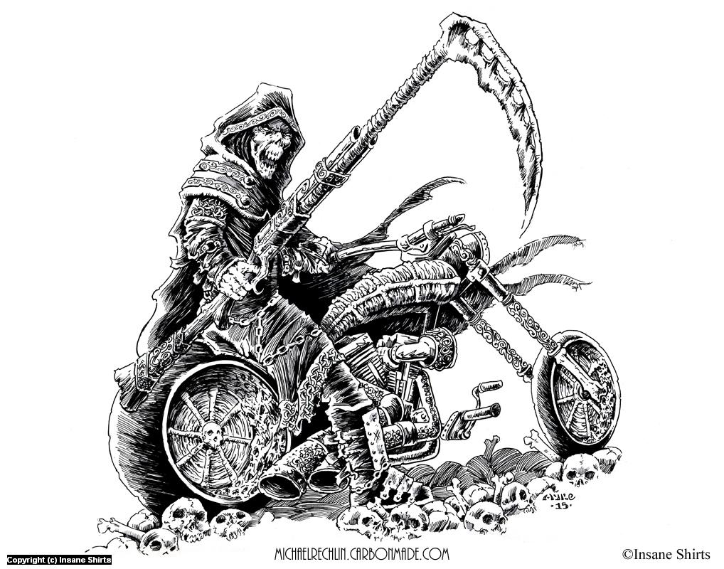 Shotgun Scythe Reaper Artwork by Michael Rechlin