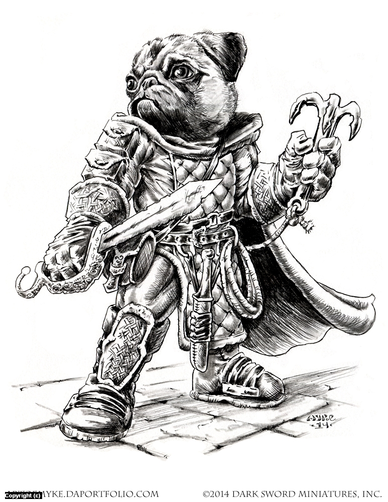Critter Kingdoms- Pug Rogue Artwork by Michael Rechlin