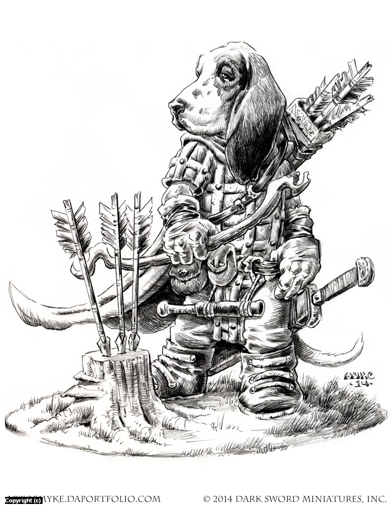 Critter Kingdoms- Basset Hound Ranger Artwork by Michael Rechlin
