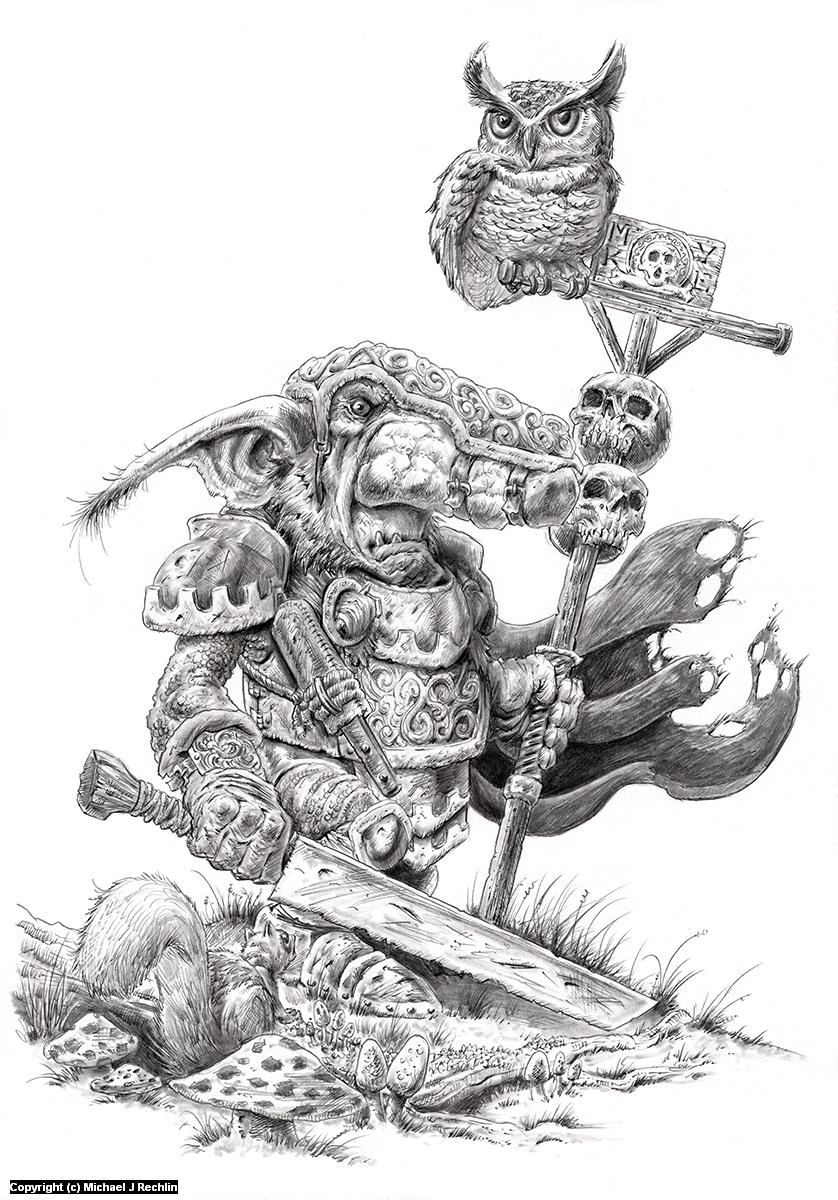 Goblin Legionnaire Artwork by Michael Rechlin