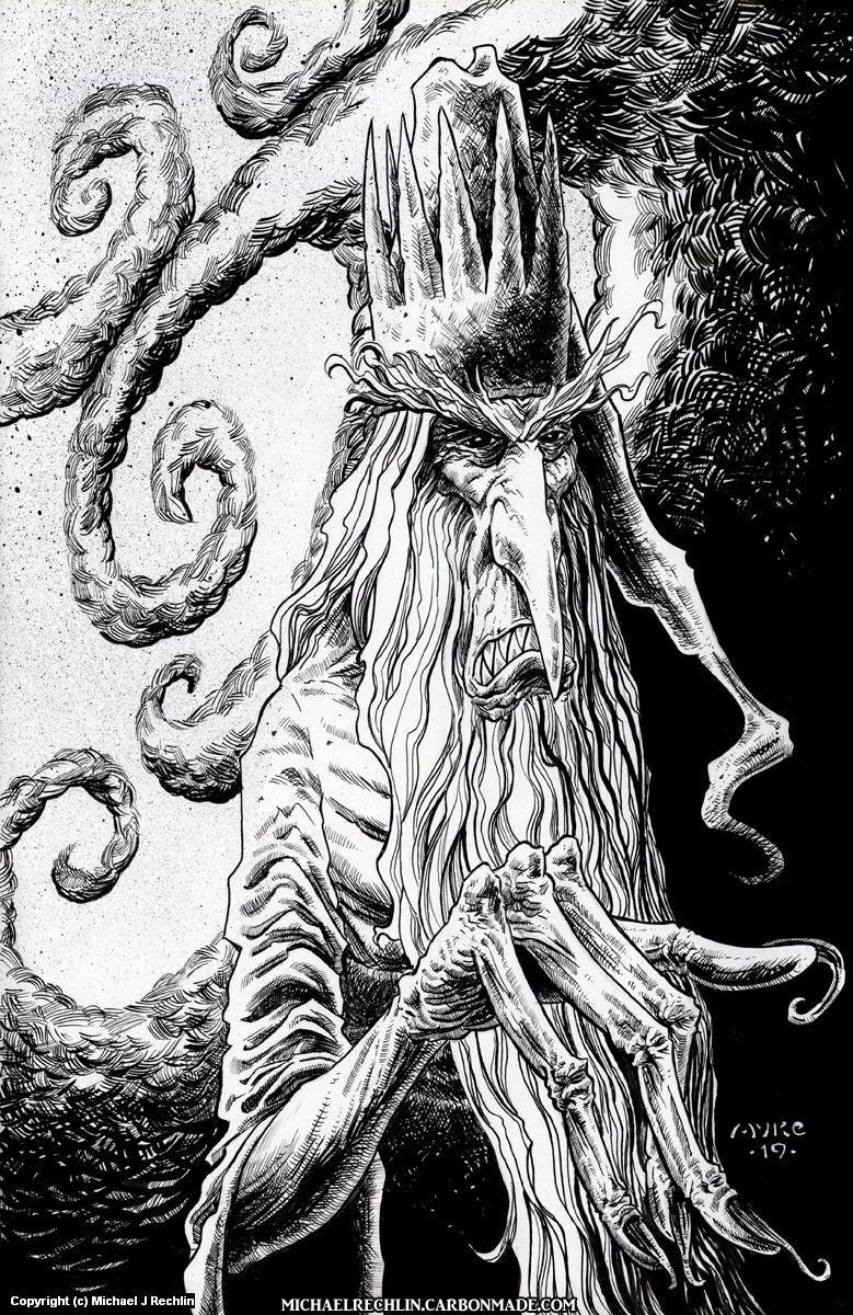 The Winter Warlock Artwork by Michael Rechlin