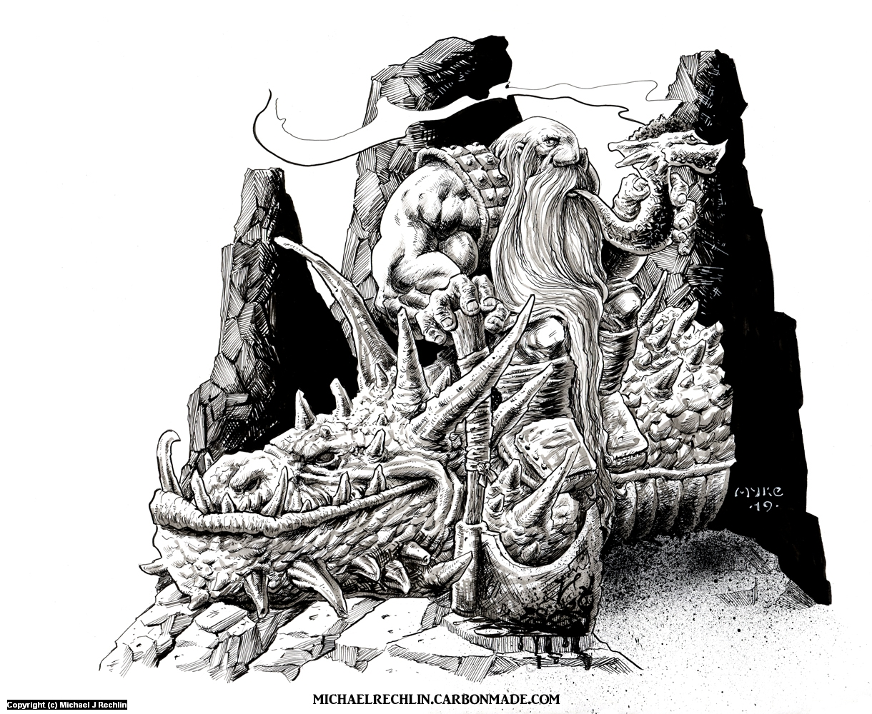 Dead Wyrm Artwork by Michael Rechlin
