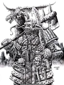 Armored Primate Comic Art