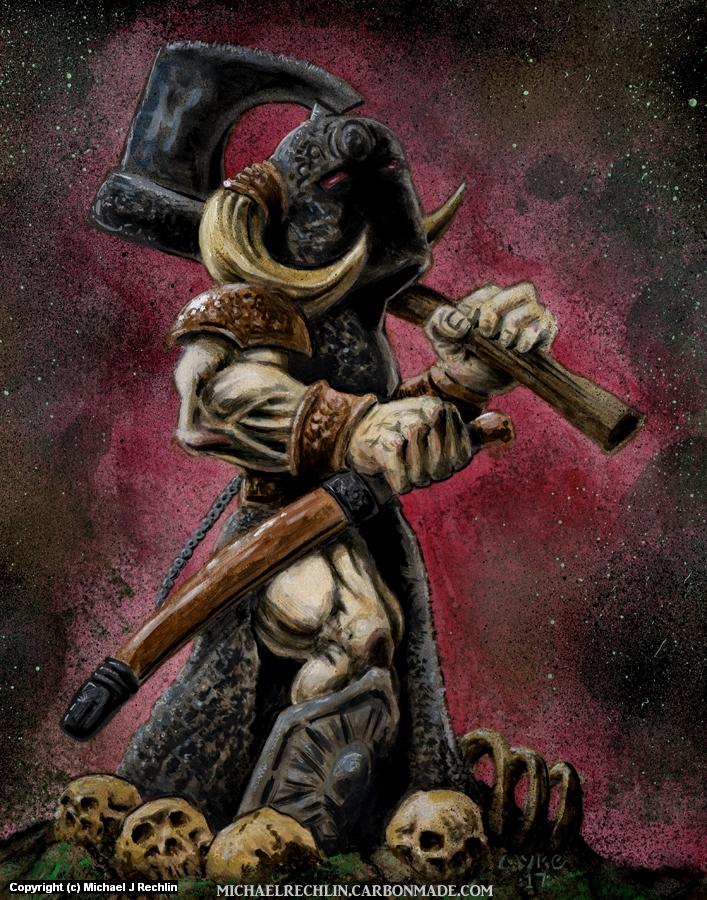 Death Dealer toon Artwork by Michael Rechlin