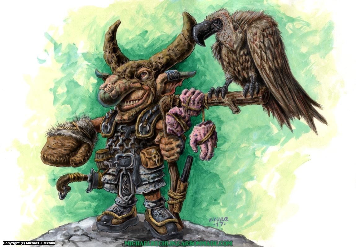 Goblin Vulture Master Artwork by Michael Rechlin