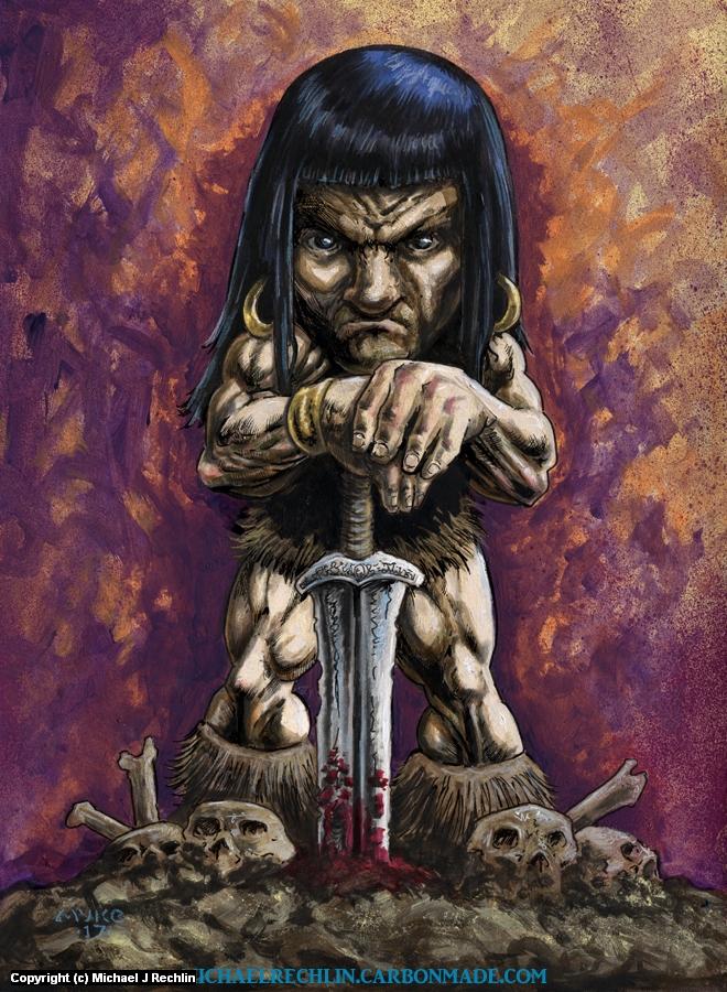 Bobblehead Conan Artwork by Michael Rechlin