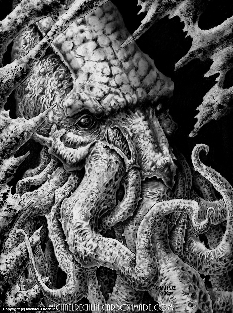 Cthulhu Artwork by Michael Rechlin
