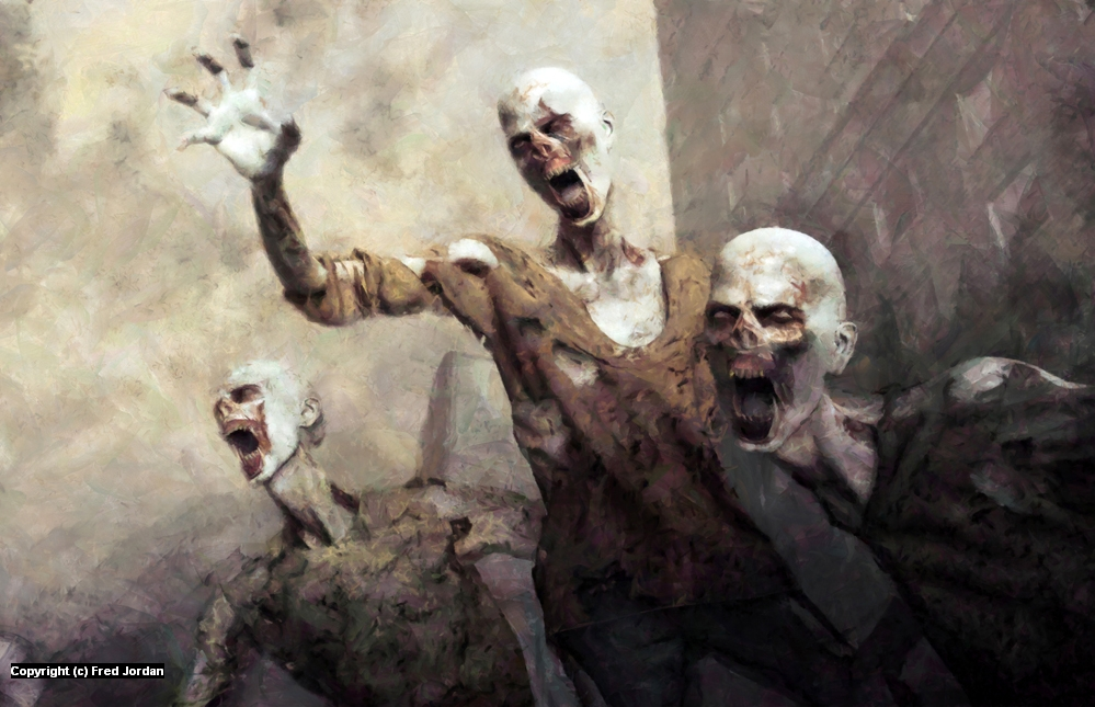 Undead Zombies Artwork by Fred Jordan