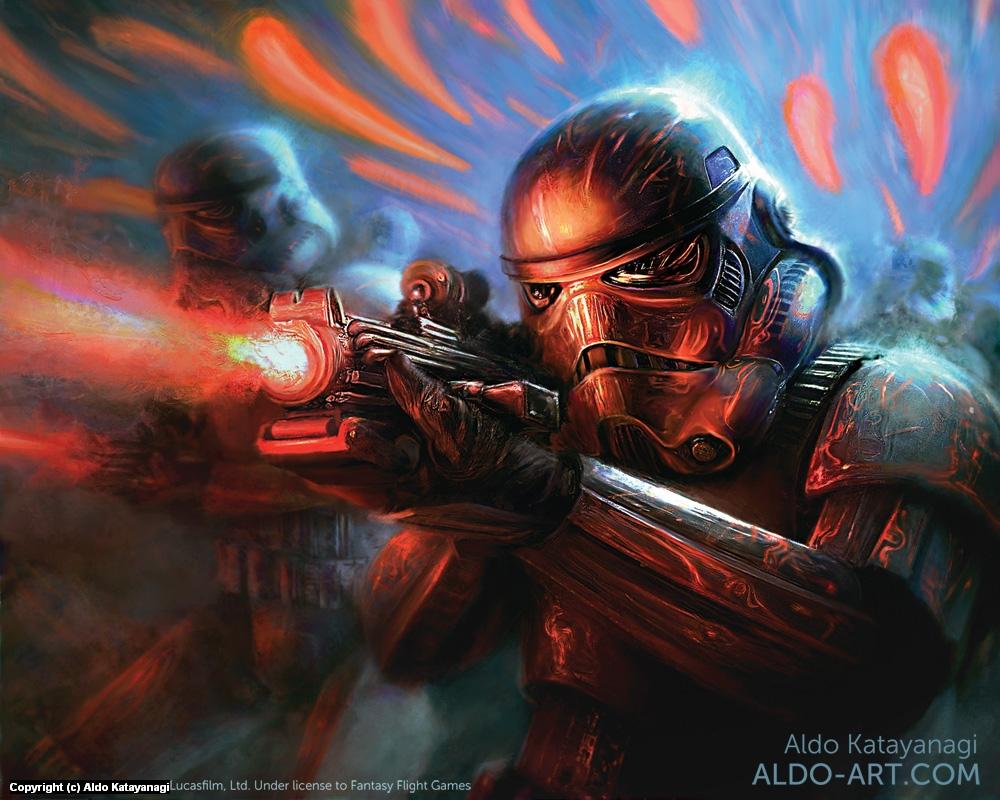 Star Wars Stormtroopers Artwork by Aldo Katayanagi