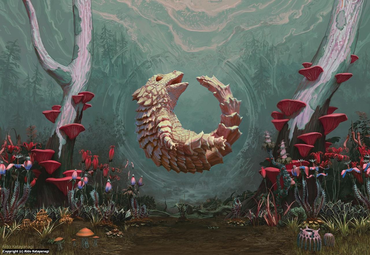 Oroboros Splash Page Artwork by Aldo Katayanagi