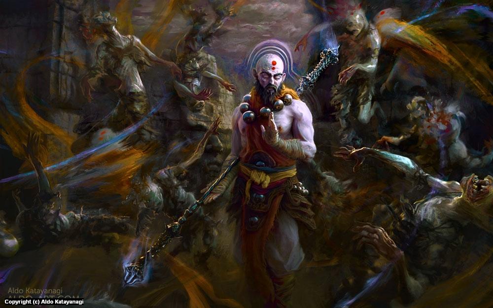 Monk - Diablo 3 Artwork by Aldo Katayanagi