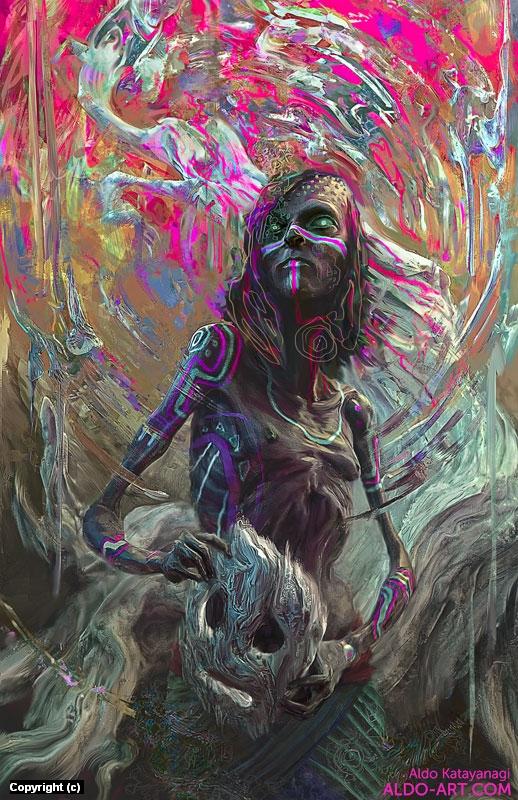 Witch Artwork by Aldo Katayanagi
