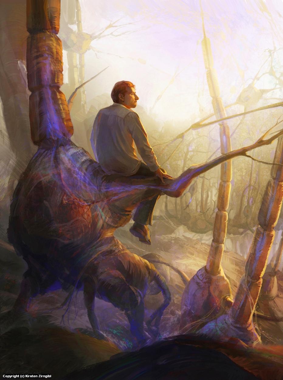 Neuron Forest Artwork by Kirsten Zirngibl