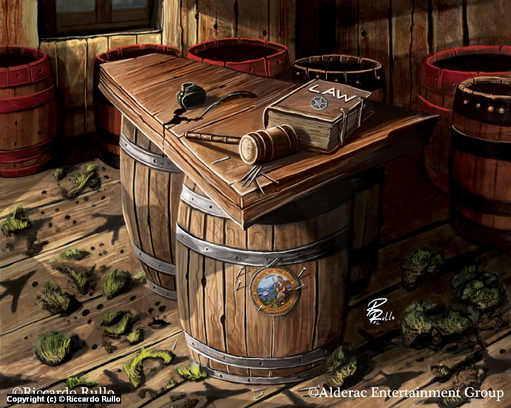 Doomtown: Legal Instrument Artwork by Riccardo Rullo