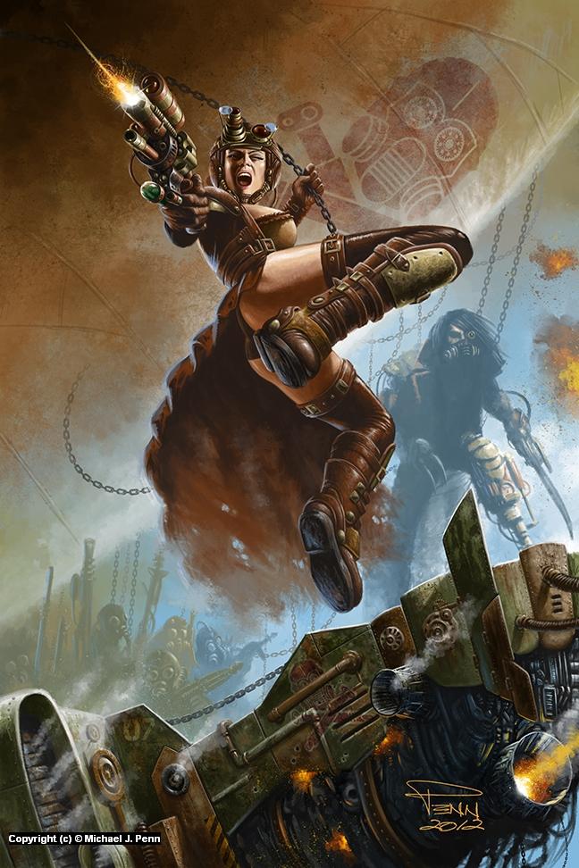 Steampunk Pirates Artwork by Mike Penn