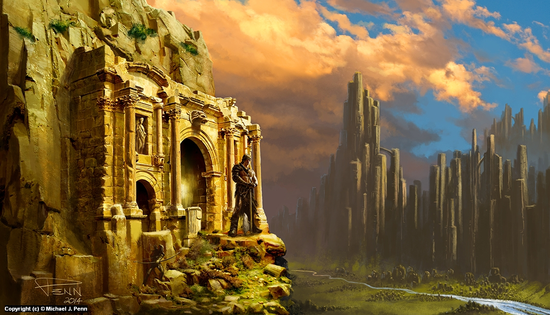 Mountain Ruins Artwork by Mike Penn