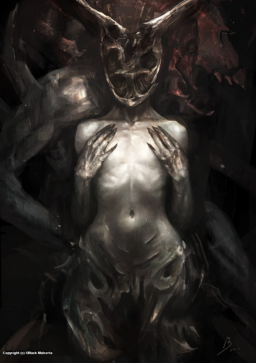 Skull Girl Artwork by Black Malcerta