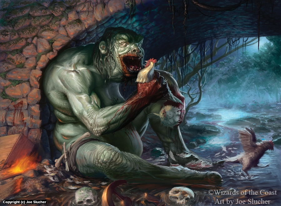 Gluttonous Troll Artwork by Joe Slucher