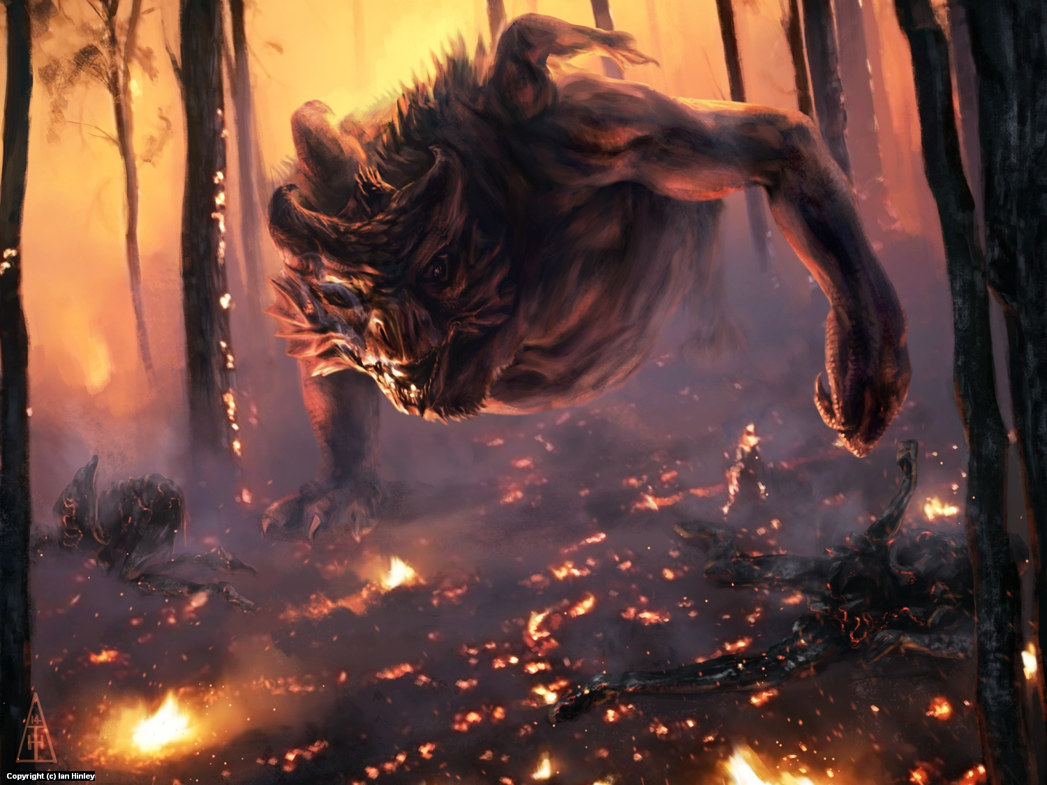 Forest Fire Artwork by Ian Hinley