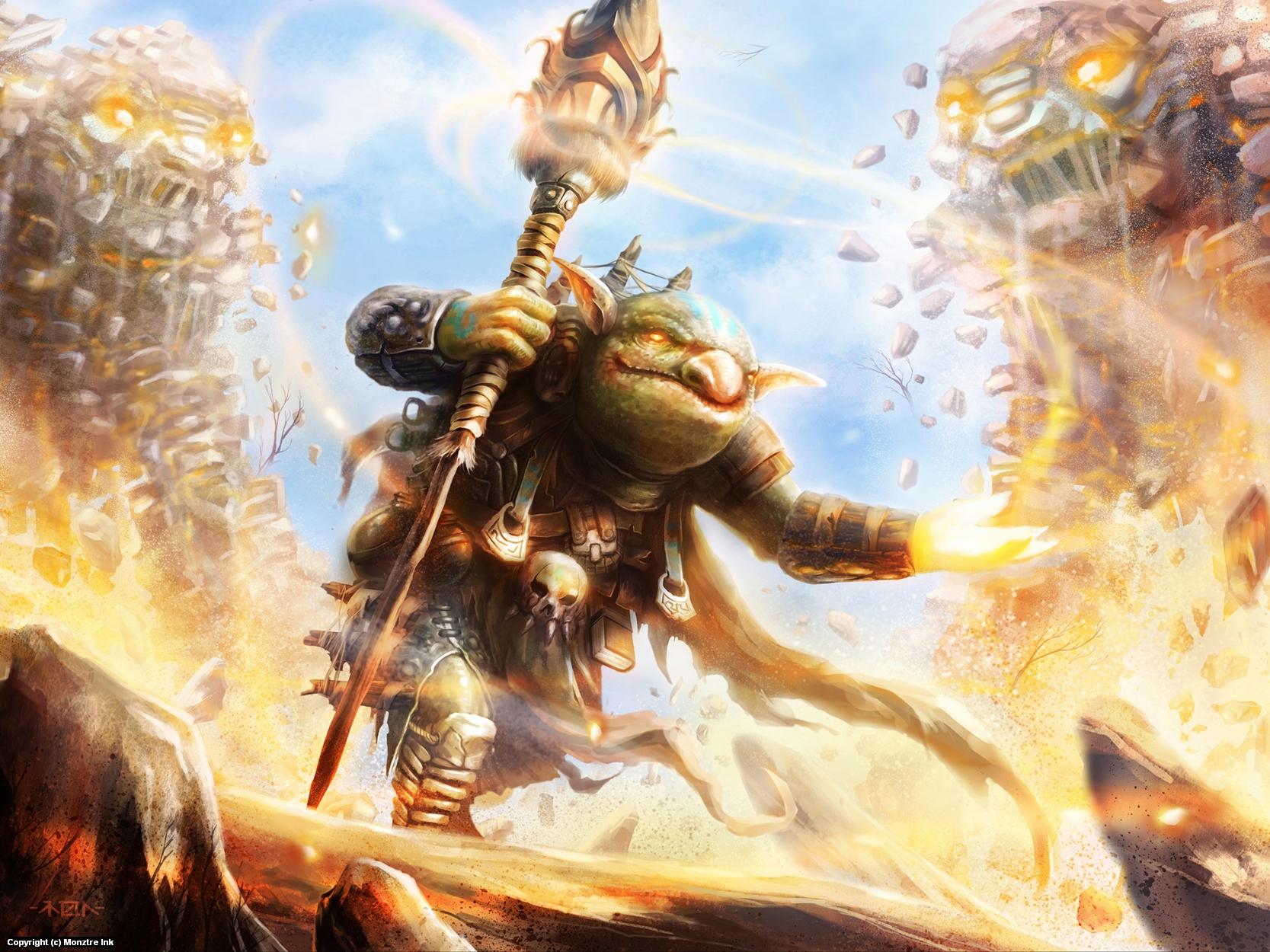Goblin Envoker Artwork by Ramon  Puasa Jr