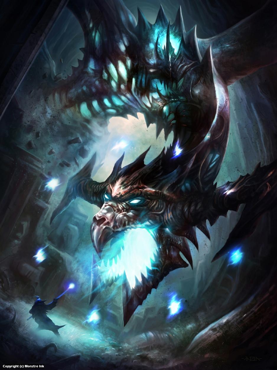 Dragon Encounter Artwork by Ramon  Puasa Jr