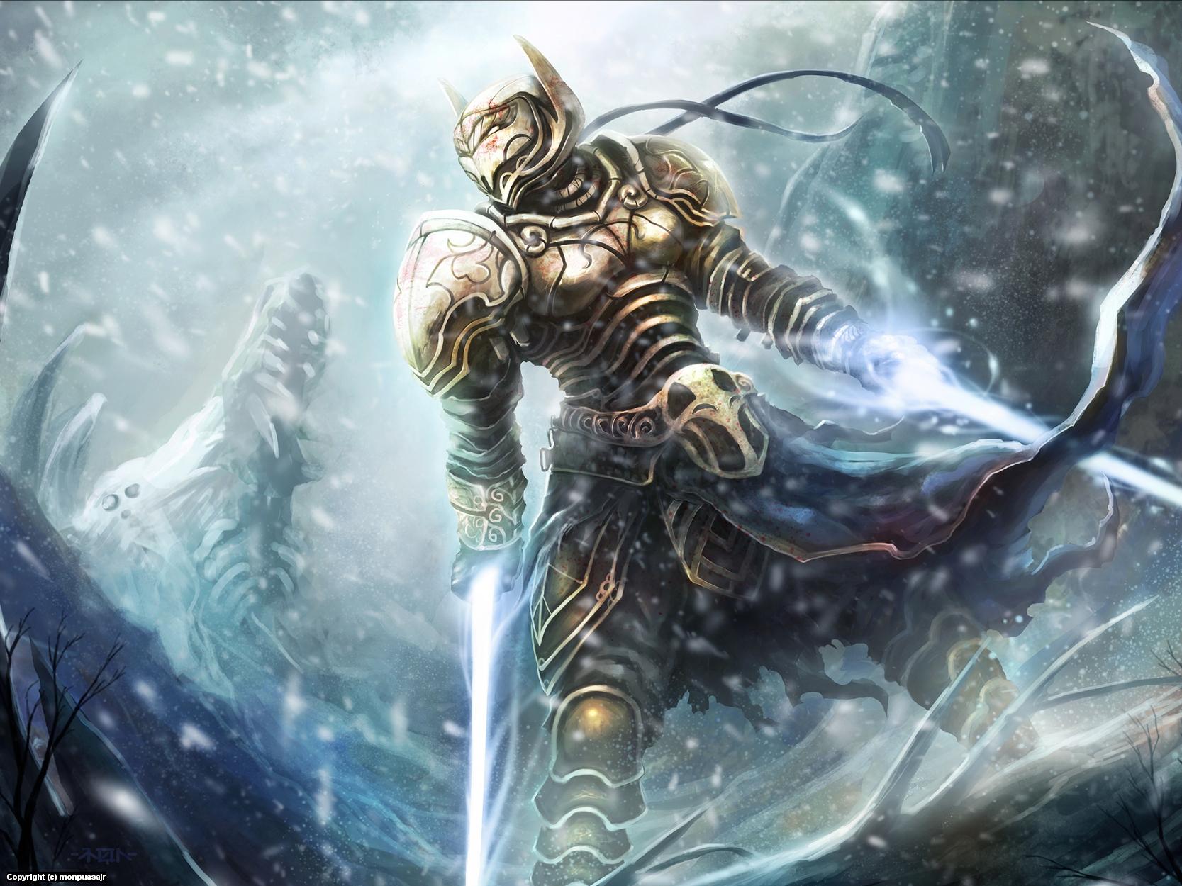 Winter Knight Artwork by Ramon  Puasa Jr